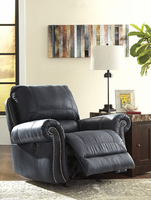 Ashley Furniture Power Rocker Recliner, Navy