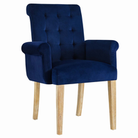 Premise Wood Armchair, Navy [FREE SHIPPING]