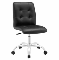 Prim Armless Mid Back Office Chair, Black [FREE SHIPPING]