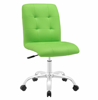 Prim Armless Mid Back Office Chair, Bright Green [FREE SHIPPING]