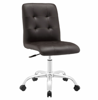 Prim Armless Mid Back Office Chair, Brown [FREE SHIPPING]