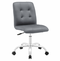 Prim Armless Mid Back Office Chair, Gray [FREE SHIPPING]
