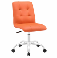 Prim Armless Mid Back Office Chair, Orange [FREE SHIPPING]