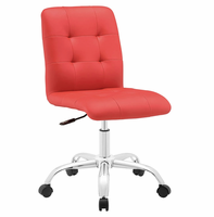 Prim Armless Mid Back Office Chair, Red [FREE SHIPPING]