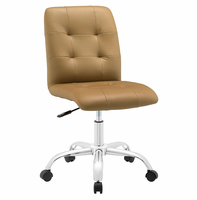 Prim Armless Mid Back Office Chair, Tan [FREE SHIPPING]