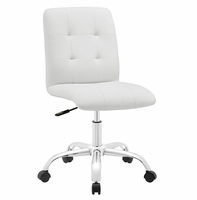 Prim Armless Mid Back Office Chair, White [FREE SHIPPING]