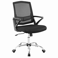 Proceed Mid Back Upholstered Fabric Office Chair, Black [FREE SHIPPING]