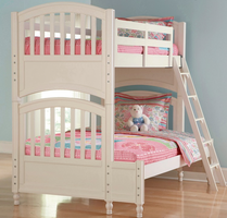 Pulaski Furniture 634 Pawsitively Vanilla Bunk Bed with 4/6 Extension