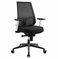 Pump White Frame Fabric Office Chair, Black [FREE SHIPPING]