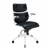Push Mid Back Office Chair, Black [FREE SHIPPING]