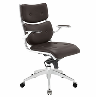 Push Mid Back Office Chair, Brown [FREE SHIPPING]