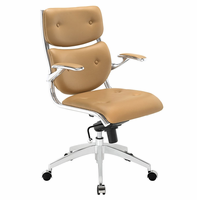 Push Mid Back Office Chair, Tan [FREE SHIPPING]