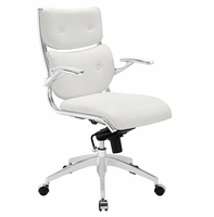 Push Mid Back Office Chair, White [FREE SHIPPING]