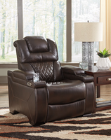 Ashley Furniture PWR Recliner/ADJ Headrest, Chocolate