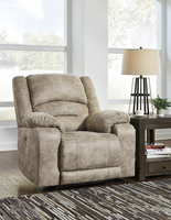 Ashley Furniture PWR Recliner/ADJ Headrest, Graystone