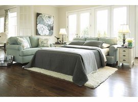 Ashley Furniture Queen Sofa Sleeper, Seafoam