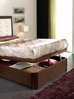 QUEEN STORAGE BED Alicante 515 Wenge