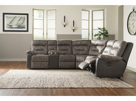 Ashley Furniture RAF Zero Wall Power Recliner, Brownstone