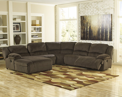 Ashley Furniture RAF Zero Wall Power Recliner, Chocolate