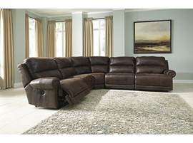 Ashley Furniture RAF Zero Wall Power Recliner, Espresso