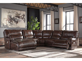 Ashley Furniture RAF Zero Wall Power Recliner, Walnut