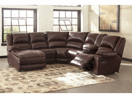 Ashley Furniture RAF ZERO WALL RECLINER, Mahogany
