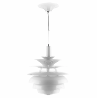 """Rebound 17"""" Stainless Steel Chandelier, White [FREE SHIPPING]"""