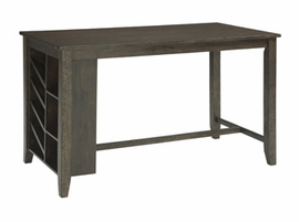 Ashley Express Furniture RECT Counter Table with Storage, Light Brown