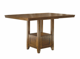 Ralene - D594-42 - RECT DRM Counter EXT Table - Medium Brown