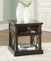 Ashley Express Furniture Rectangular End Table, Dark Brown