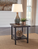 Ashley Express Furniture Rectangular End Table, Two-tone Brown
