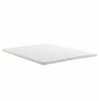 "Relax King 2"" Gel Memory Foam Mattress Topper, White [FREE SHIPPING]"