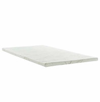 "Relax Twin 2"" Gel Memory Foam Mattress Topper, White [FREE SHIPPING]"