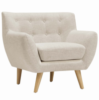 Remark Upholstered Armchair, Beige [FREE SHIPPING]