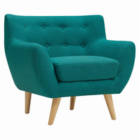 Remark Upholstered Armchair, Teal [FREE SHIPPING]
