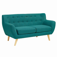 Remark Upholstered Loveseat, Teal [FREE SHIPPING]