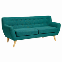 Remark Upholstered Sofa, Teal [FREE SHIPPING]