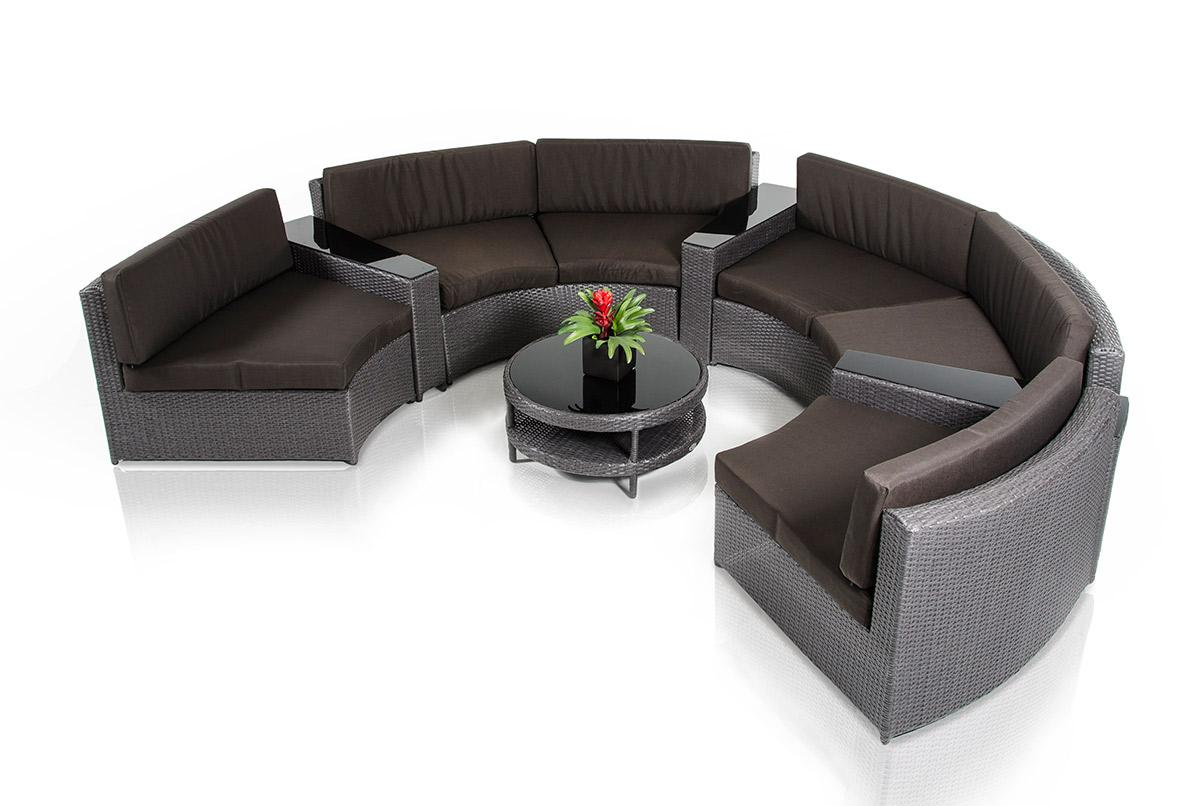Renava Shore - Rounded Sectional with Built-in Ledge and Coffee Table Patio Set  sc 1 st  Z Furniture : rounded sectional - Sectionals, Sofas & Couches
