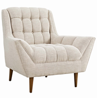Response Upholstered Fabric Armchair, Beige [FREE SHIPPING]