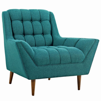 Response Upholstered Fabric Armchair, Teal [FREE SHIPPING]