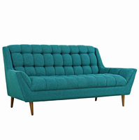 Response Upholstered Fabric Loveseat, Teal [FREE SHIPPING]