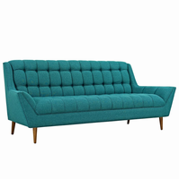 Response Upholstered Fabric Sofa, Teal [FREE SHIPPING]