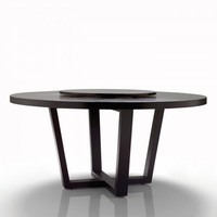 "Revolve Round Dining Table 48"" Oak Wenge"