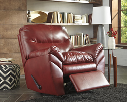 Ashley Furniture Rocker Recliner, Crimson