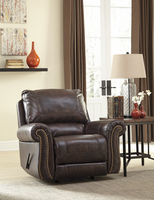 Ashley Furniture Rocker Recliner, Walnut