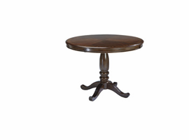 Leahlyn - D436-15B - Round Dining Room Table Base - Medium Brown