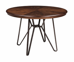 Ashley Express Furniture Round Dining Room Table, Two-tone Brown