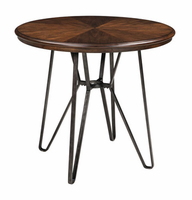 Ashley Express Furniture Round DRM Counter Table, Two-tone Brown