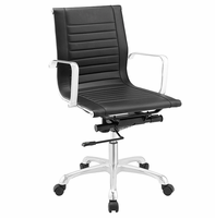 Runway Mid Back Fabric Office Chair, Black [FREE SHIPPING]