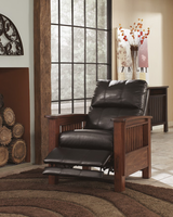 Ashley Furniture High Leg Recliner, Chocolate